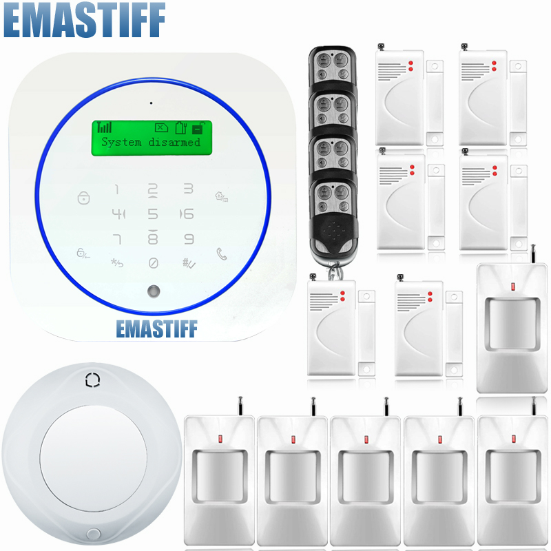 Wireless/Wired Home Intelligent Burglar GSM English/Deutsch/Espanol/Italiano/French Alarm System Auto dial remote arm/disarm free shipping wireless sim gsm home burglar security lcd keyboard gsm alarm system sensor kit deutsch espanol italiano francais