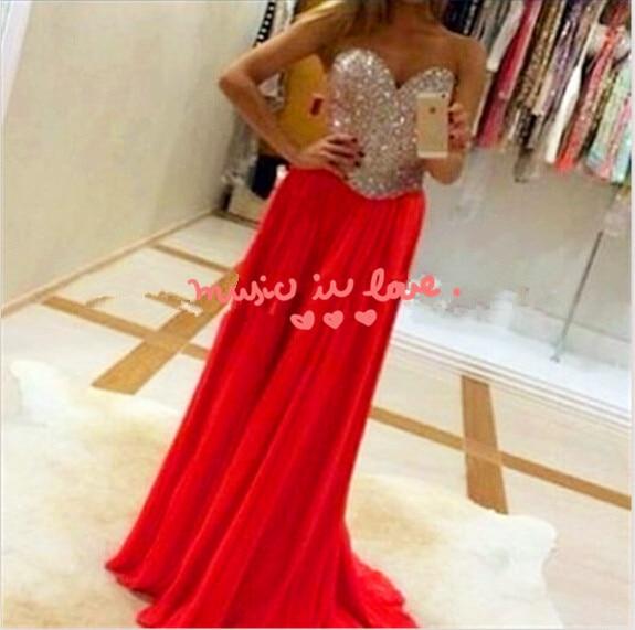 Sexy Red long Prom 2018 Beadwork vestido de festa Sweetheart A Line Floor Length cheap handmade Party Gown   bridesmaid     dresses