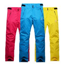 Free Shipping 2016 Latest High Quality Women and Men Ski Snowboard Pants Winter Wind Resistant Waterproof  breathabletrousers