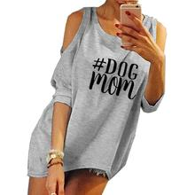 2018 New Fashion Dog Mom Print Harajuku Tshirt T-Shirt Female  Tumblr Funny Cute Rock Japan