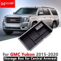Organizador de Armazenamento Caixa De braço Carro Acessórios para GMC Yukon 2015 2016 2017 2018 2019 2020 Estiva Tidying Styling K2UC/ G