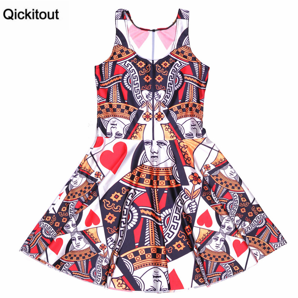Qickitout 2016 Fashion Women Casual Party Dresses Summer -3319