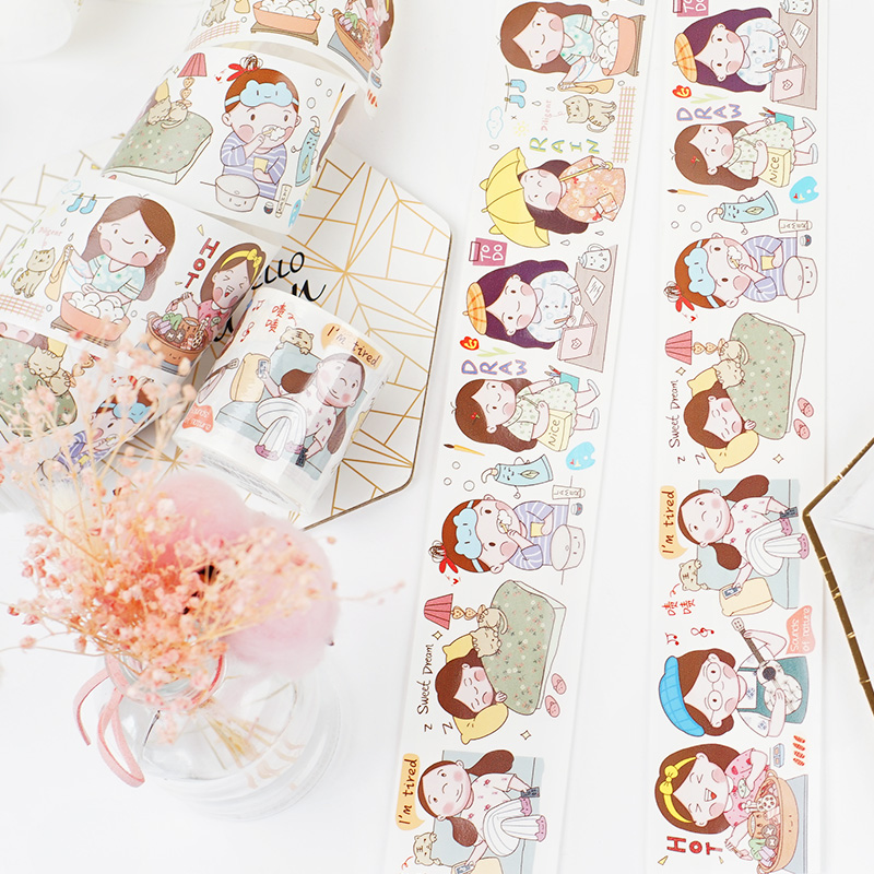 Special Ink Girl's Funny Life Series Daily Life/Sweet Food/expression Decorative Washi Tape DIY Scrapbooking Masking Tape