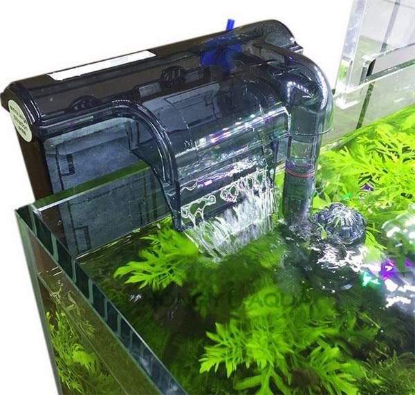Aquarium Submersibl 3-in-1 External Hanging Fish Tank Power Filter HI-330 Waterfall External Aquarium Air Pump Surface Skimmer