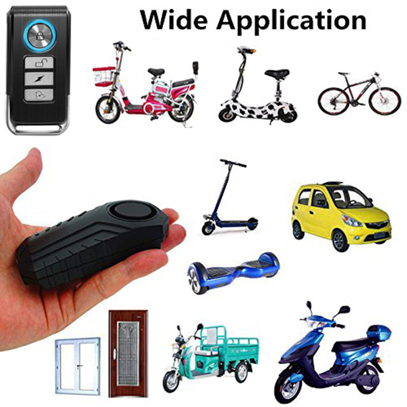 113dB Wireless Alarm Anti-Theft Vibration Motorcycle Bicycle Waterproof Security Sensors Bike Alarm with Remote