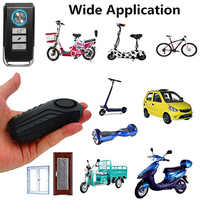 113dB Wireless Anti-Theft Vibration Motorcycle Bicycle Waterproof Security Bike Alarm with Remote 77 YS-BUY