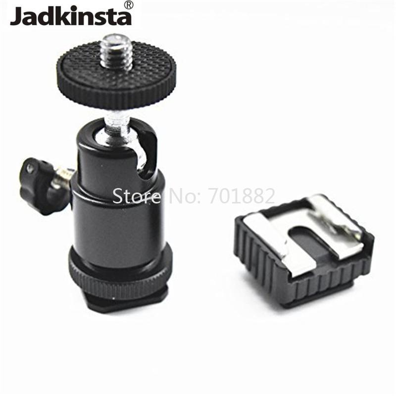Tripod Head Mini Ballhead Hot Shoe Adapter 90 Degree Vertical Shooting Ball Head 14 Light Stand Mount to 14 Thread (1)