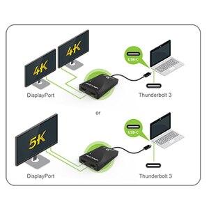 Image 5 - محول Thunderbolt 3 ثنائي محول عرض HDMI فاصل نوع C usb C hub 40Gbps 4K منفذ عرض HDMI 1080P موزع تقسيم الفيديو