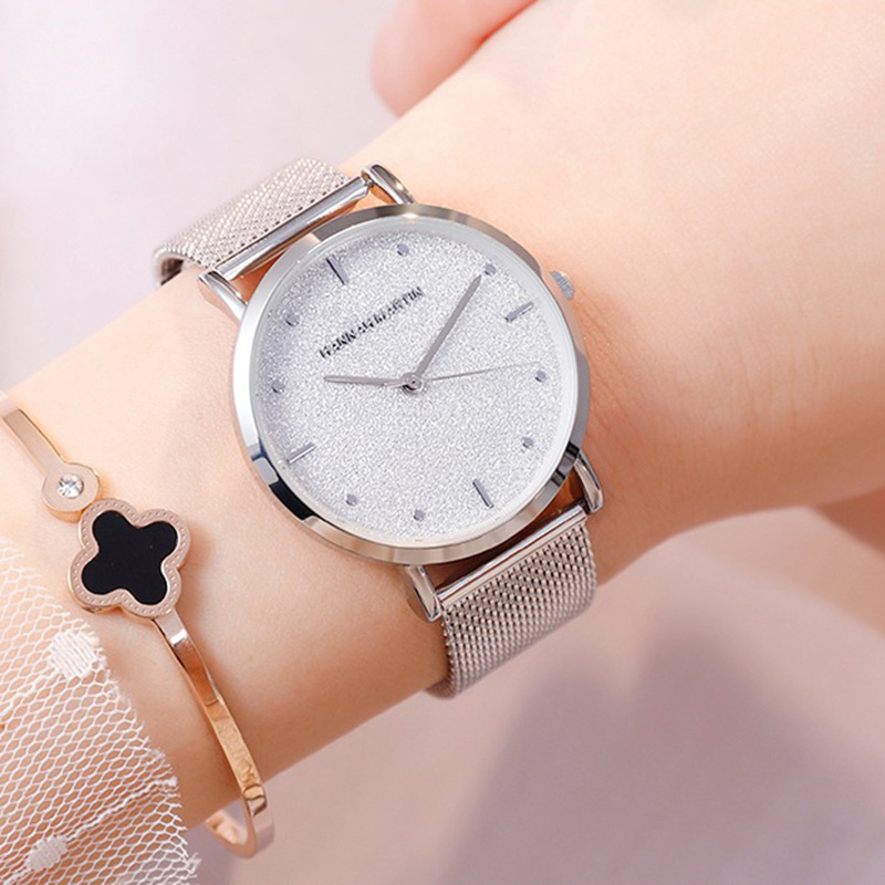 Top Brand Luxury Women Starry Sky Quartz Watches For Women Silver Stainless Steel Waterproof Clock Female relogio feminino 2019 in Women 39 s Watches from Watches