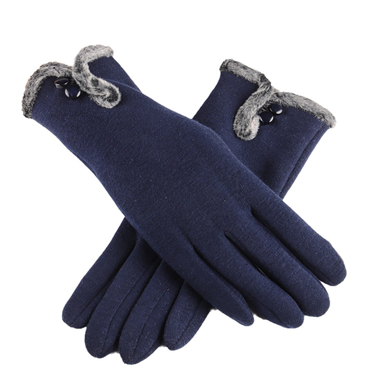 NAIVEROO Waterproof and Warm Touch Screen Gloves made of PU Leather and Conductive Fibers for Women Suitable for Spring and Winter 38