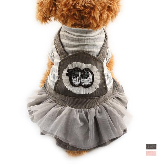 de2bf970d € 6.33  Armi tienda Primavera Verano Vestidos para perro Stripe vestido  para Perros 6072072 ropa para mascotas suministros XS S M l XL en Vestidos  ...