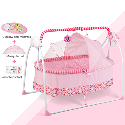 Baby cradle bed electric concentretor simple folding fashion bb newborn bed band mosquito net plus size baby cradle