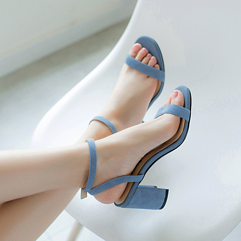 HTB1T7r.R7zoK1RjSZFlq6yi4VXaI ORATEE Fashion Ankle Strap Women Casual Sandals Open Toe Summer High Heel Shoes Buckle Ladies Office Work Sandalias Shoes