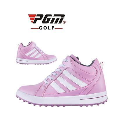 Esportes ao ar Livre de Alta Sapatos de Golfe à Prova Pgm de Golfe para Mulheres das Sapatilhas de Inverno Novo! Aumento Dentro cm Respirável d' Água 34-39 2020 3
