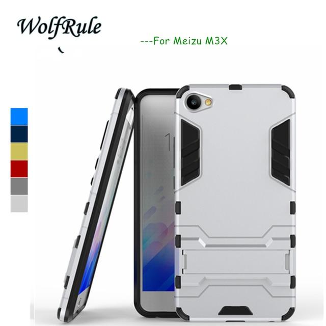 WolfRule Anti-knock Case Meizu M3X Cover Soft Silicone & Slim Plastic Case For Meizu M3X Case Meilan X Mobile Holder Stand Funda