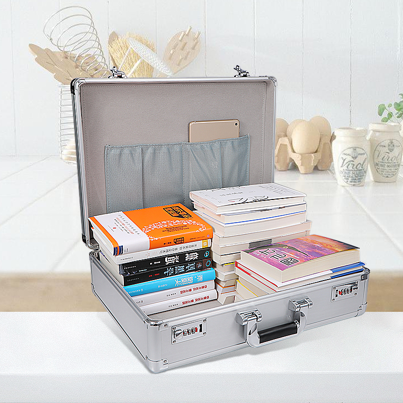 Portable Aluminum Alloy MetalTool Case Document Password Garage Tool Storage Box With Passwords Suitcase File Boxes