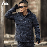 2018 New M65 Military 3in1Camouflage Male clothing US Army Tactical Men's Windbreaker hunting airsoft Jacket Outwear waterproof