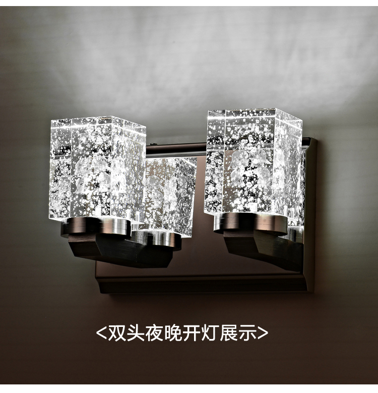 где купить Modern crystal lamp high-end stainless steel LED crystal wall lamp The sitting room the bedroom aisle wall lamp roses FG653 дешево