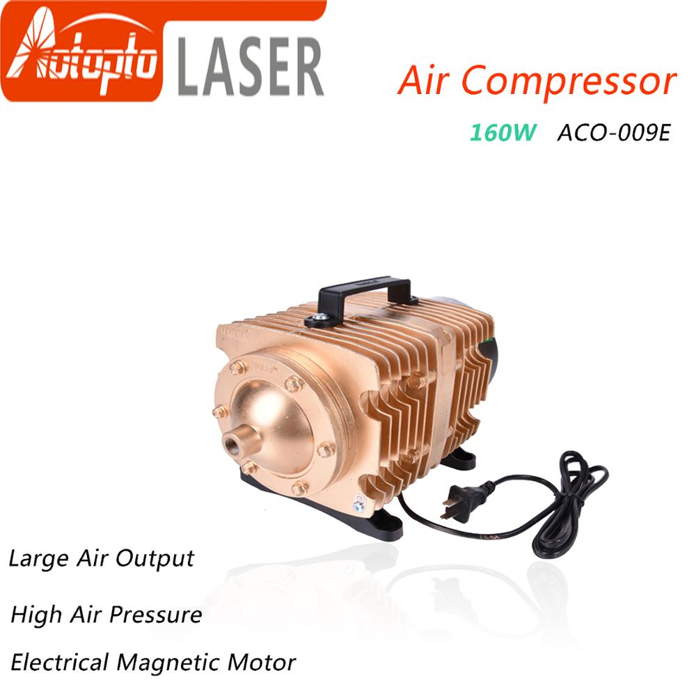 160W Air Compressor Electrical Magnetic Air Pump for CO2 Laser Engraving Cutting Machine ACO 009E