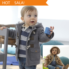 Baby Boys Jacket Clothes 2016 New Winter  2 Color Outerwear Coat Thick Kids Clothes Children Clothing With Hooded Retail Hot