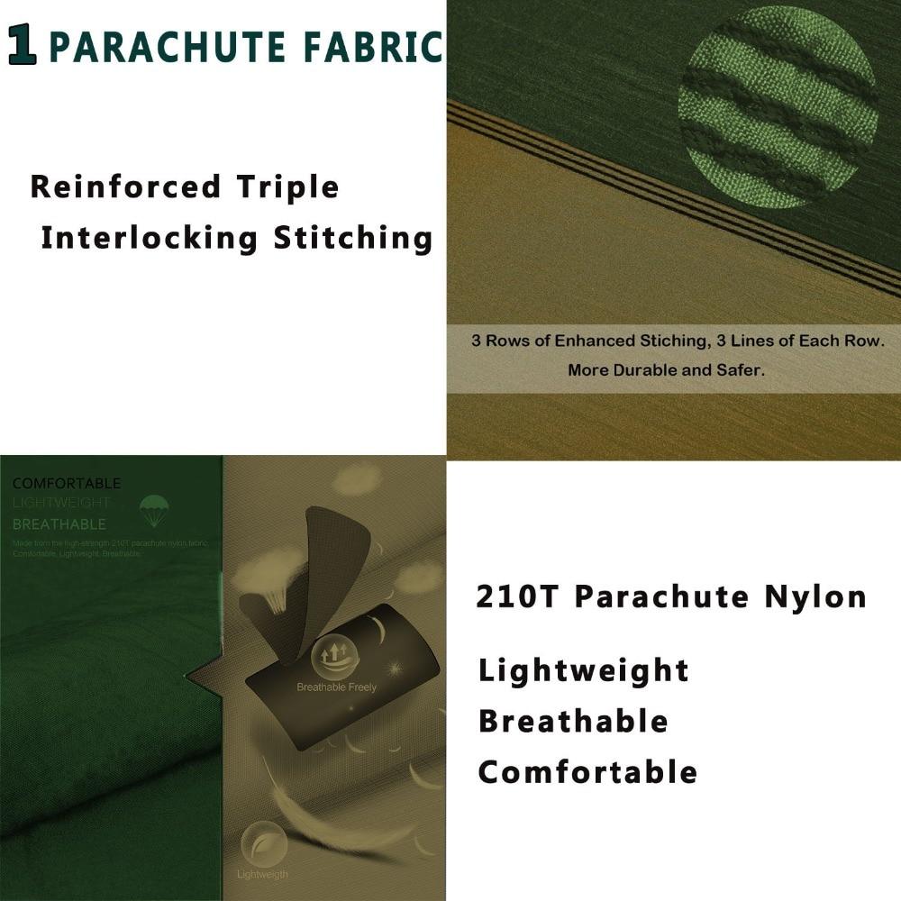 Image 2 - Dropshipping Parachute Nylon Hammock,Outdoor Camping Hammocks Double Person Portable Swing Hammock-in Hammocks from Furniture