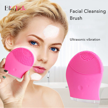 BlingBelle Soft Silicone Facial Cleansing Brush Ultrasonic Face Cleaning Waterproof Usb Charge Remove Blackhead Pore Cleanser hot cleanser electric silica gel wash face ultrasonic cleaning facical brush beauty charge waterproof clean pore device