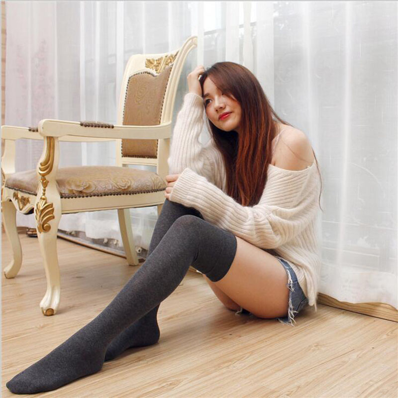 New Long Barreled Pure Winter Stockings Newly Design Women
