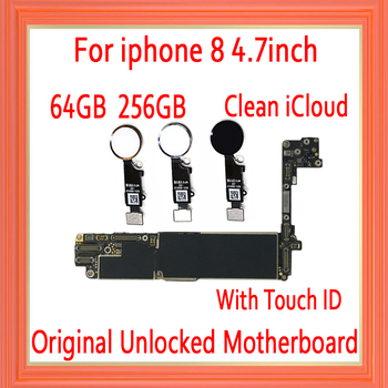NO iCloud for iphone 8 Motherboard with Touch ID/Without Touch ID,Original unlocked for iphone 8 Logic board with Full Chips