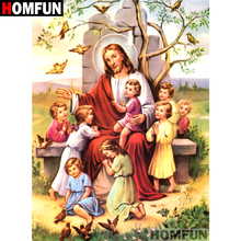 HOMFUN Full Square/Round Drill 5D DIY Diamond Painting Religion Jesus Embroidery Cross Stitch 5D Home Decor Gift A07130 5d jesus diamond painting cross stitch full square diamond embroidery religion pattern wall decor christmas gift