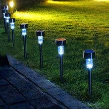 LED Solar Garden Light Outdoor Lawn Lamp Sensor Waterproof Street Lighting With Battery Energy Stainless Steel Decorative Lights