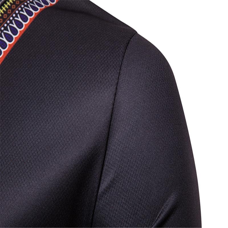 T shirt 2018 Men's Casual African Print O-Neck Pullover Long Sleeved T-shirt Top women t-shirt Dropshipping For Free Shipping (5)