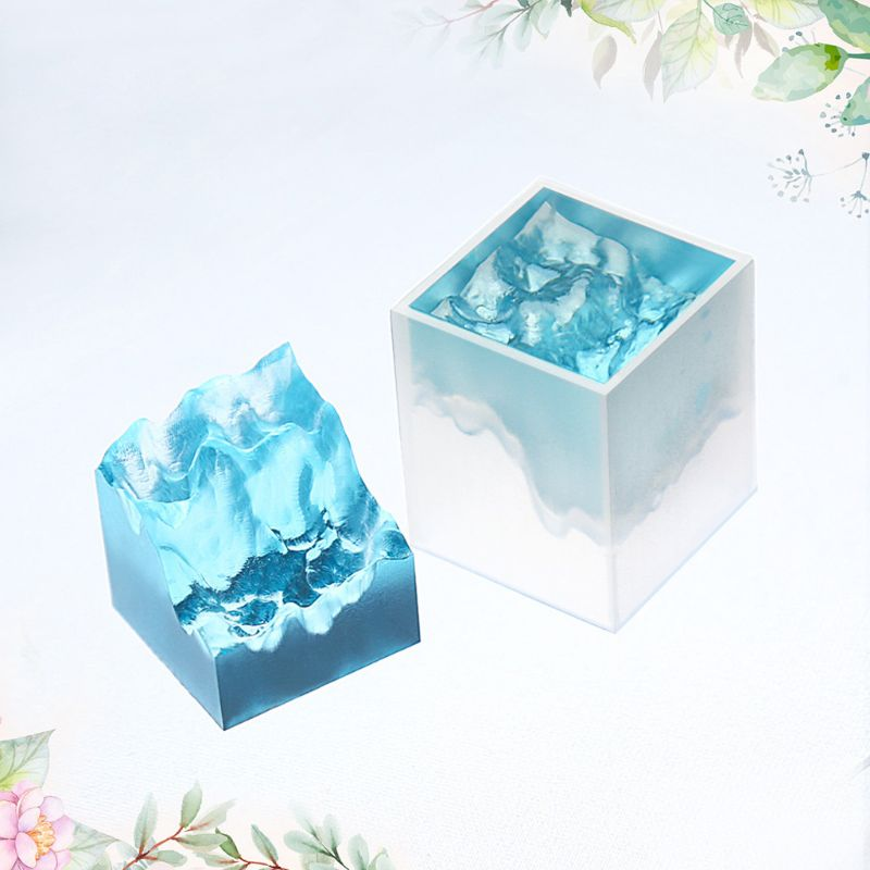 Double-side Snow Mountain Mold Epoxy Resin Silicone Mold Micro Landscape Craft Micro Landscape Accessories Jewelry Making