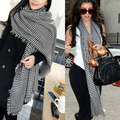 New Women Plover Tassel Cashmere Wool Feel Scarf Large Size Wrap Stole Shawl,Free Shipping