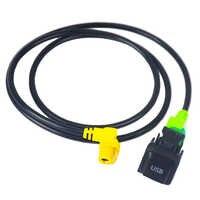 Auto USB schalter kabel AUX schalter taste kabel für VW Passat B6 B7 Golf 6 Polo Bora CC RCD 510 RNS 315