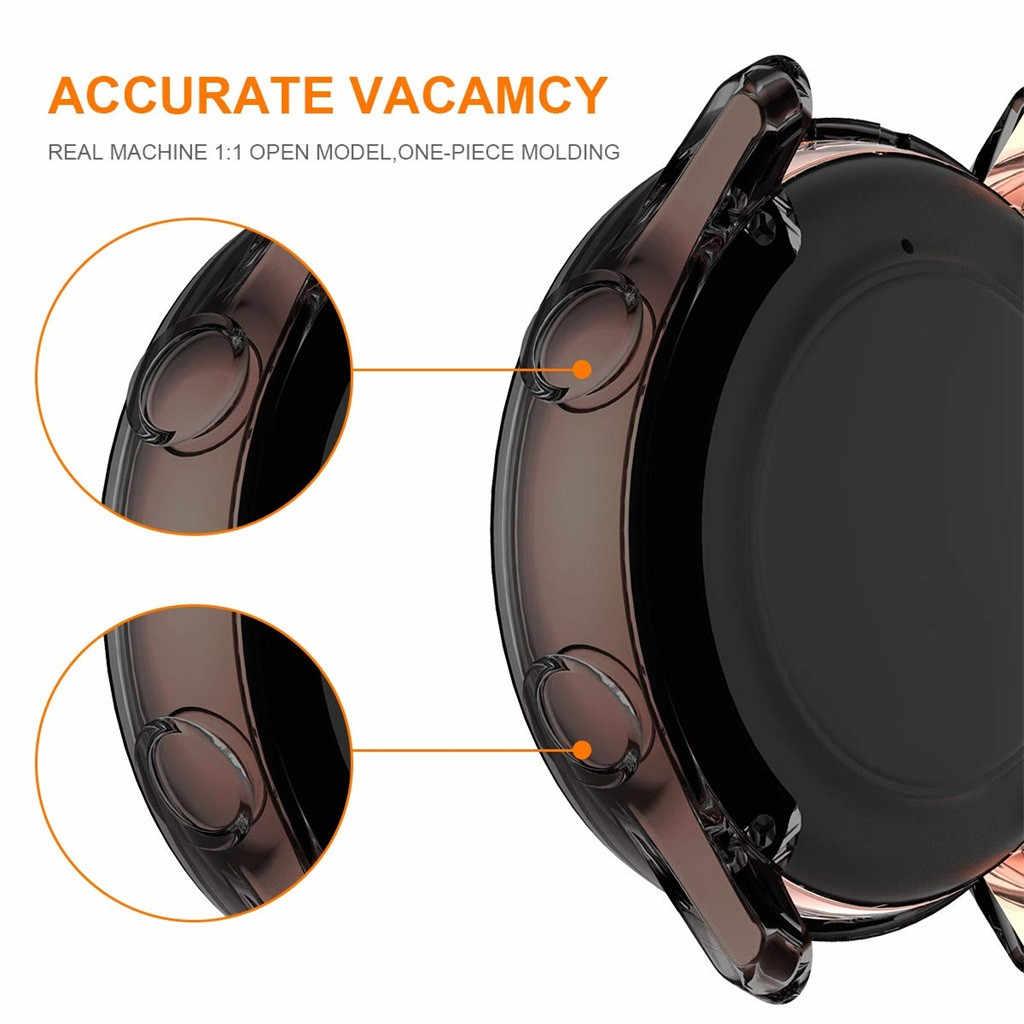 ساعة ذكية نشط حامي حالة ضئيلة شاشة TPU حماية قذيفة سيليكون الكامل حقيبة لهاتف سامسونج غالاكسي ووتش نشط 40 مللي متر # L25N