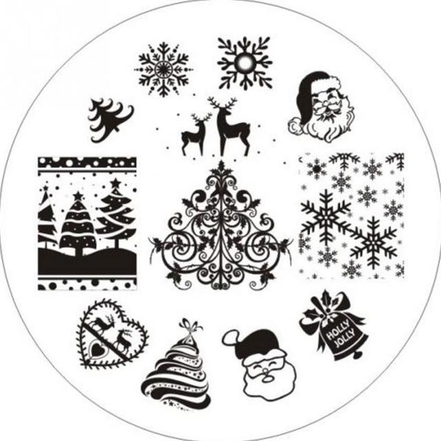 New Designs 1pcs Nail Stamping Plates DIY Nail Art Stamp Image ...
