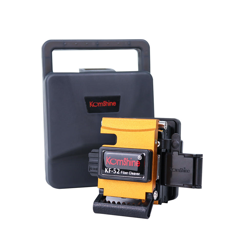 New Design KOMSHINE KF-52 Optical Fiber Cleaver with 24 surface <0.5 degree. Used with Fiber Optic Fusion SplicerNew Design KOMSHINE KF-52 Optical Fiber Cleaver with 24 surface <0.5 degree. Used with Fiber Optic Fusion Splicer