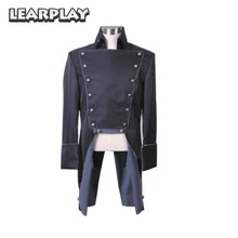 LEARPLAY Musical Les Miserables Norm Lewis Javert Jacket Cosplay Costume Black