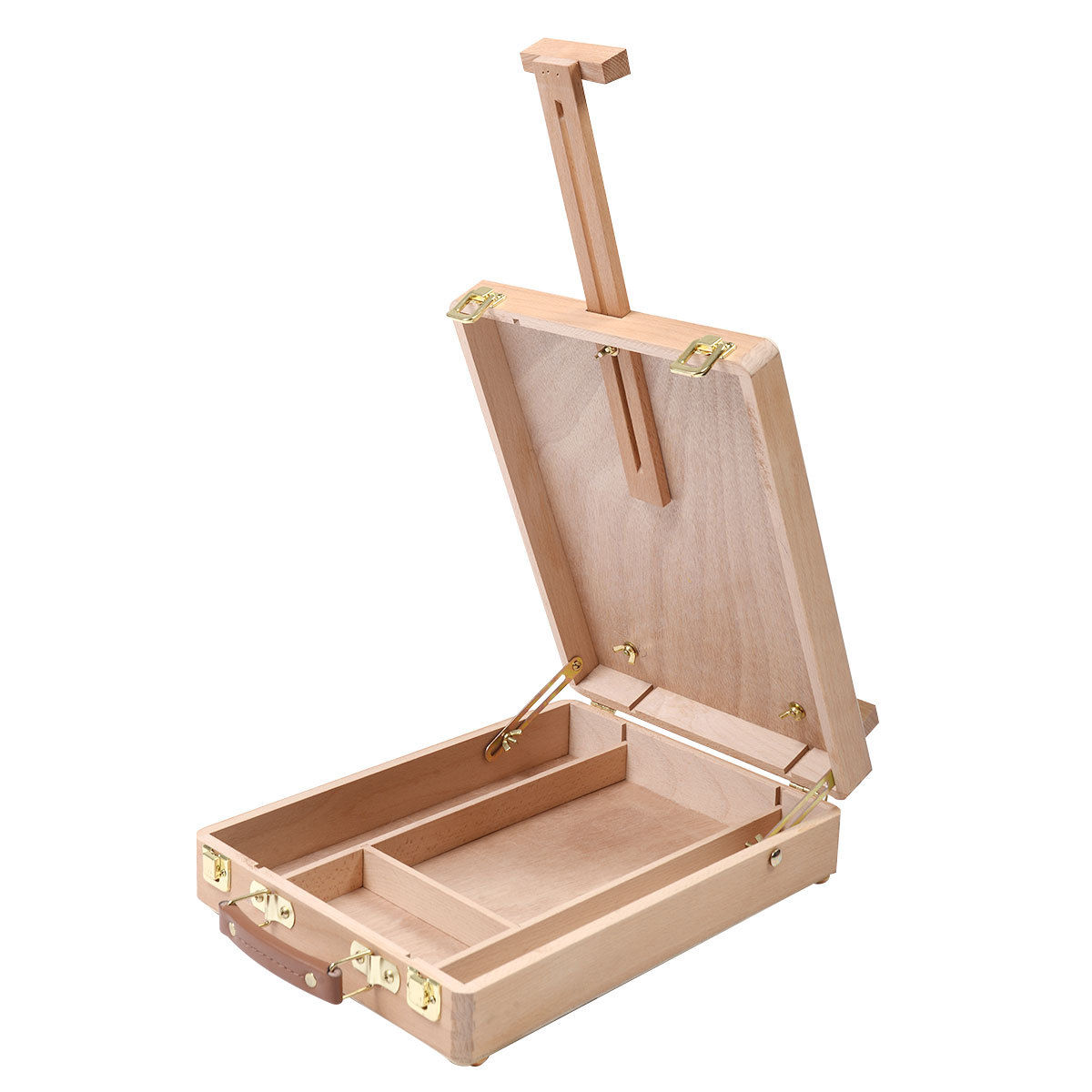 Table Easel Artist Craft with Integrated Wooden Box Art Drawing Painting Table Box-SCLL цены