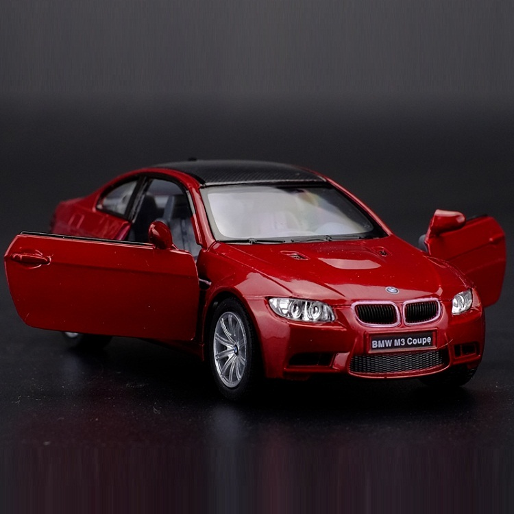 High Simulation Exquisite Diecasts & Toy Vehicles: KiNSMART Car Styling M3 Coupe 1:36 Alloy Supercar Model Pull Back Cars Doors Openable