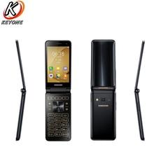 Новый оригинальный samsung Galaxy папка 2 G1650 LTE мобильный телефон 3,8 «2 Гб Оперативная память 16 Гб Встроенная память 4 ядра 8.0MP Dual SIM флип смартфон