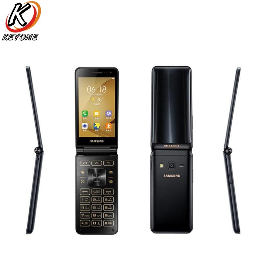 Nouvelle D'origine Samsung Galaxy Dossier 2 G1650 LTE Mobile Téléphone 3.8 2 gb RAM 16 gb ROM Quad Core 8.0MP Dual SIM Flip Téléphone Intelligent