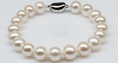 Livraison Gratuite>> 10-11mm MER DU SUD blanc perle bracelet 7.5 POUCE FX E PAR