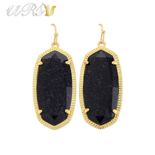 Мода KS Elle полудрагоценный камень себе Серьги в золотой современные ювелирные изделия для Для женщин оптовая продажа подарок