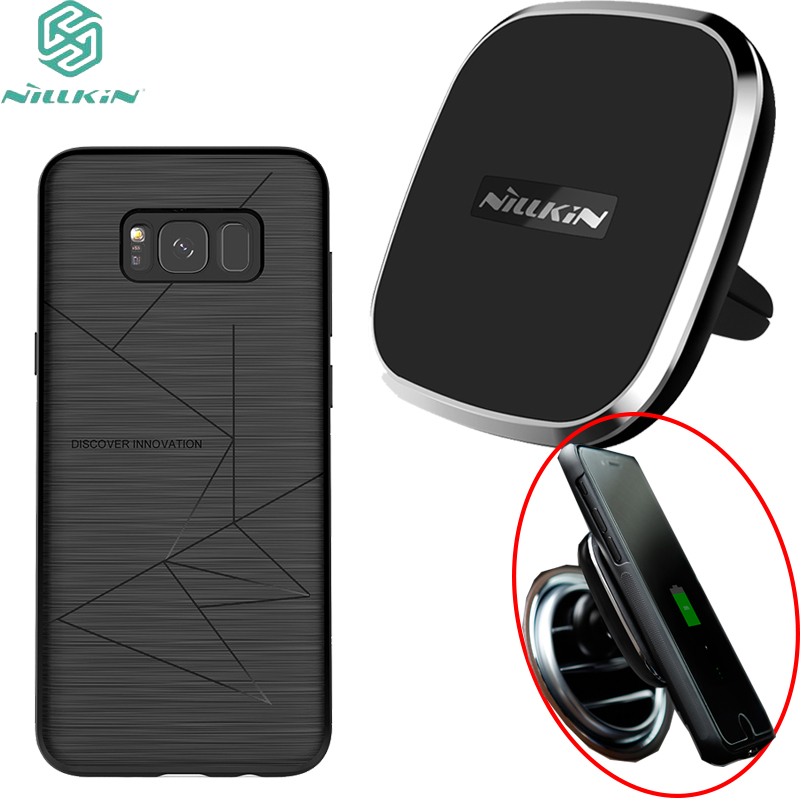 huge discount da711 d9aa6 US $12.38 |For Samsung Galaxy S8/S8+ back cover case Nillkin magic case  with Car Wireless charging Mobile Phone Case -in Fitted Cases from  Cellphones ...
