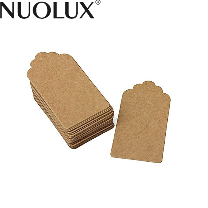 50pcs Kraft Paper Tag Blank For Wedding Favour Cards DIY Luggage Tag Price LabelWith 10m Twine