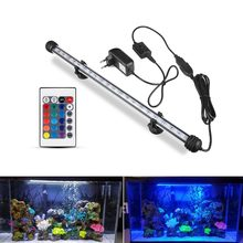 Aquarium LED Bar Light Waterproof Fish Tank Light 19/29/39/49CM Underwater Aquario Lamp Aquariums Decor Lighting 220V EU Power(China)