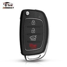 Dandkey Замена Filp корпус автомобильного ключа дистанционного управления для hyundai IX35 ix45 i20 Santa Fe Verna Fob 4 кнопки чехол нерезанный ключ