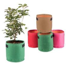 AD-9 цветов Клык цвета черный утолщение горшок из ткани горшок для растений контейнер для проращивания выращивать сумки для инструментов садовые горшки товары для огорода