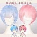 Re:Zero(Re:Zero kara Hajimeru Isekai Seikatsu) Ram Wigs Rem Wigs Cosplay Wigs